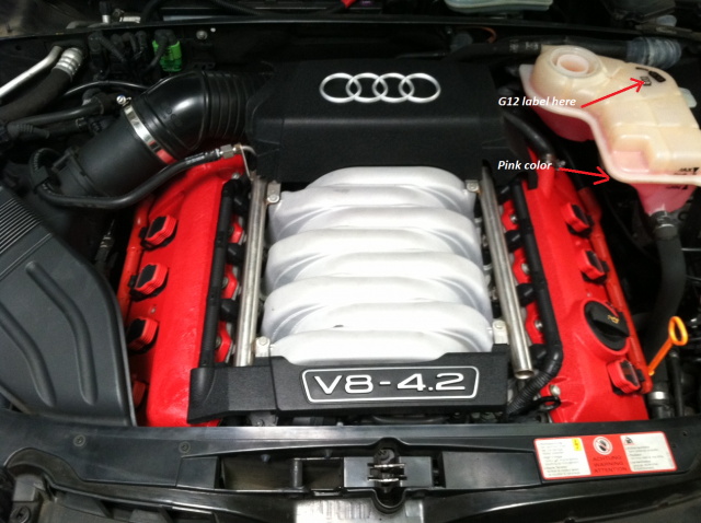 Coolant Antifreeze What S With The Color Audi S4 Vw