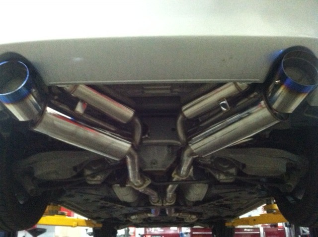 Nissan 350Z Touring Exhaust Project 2007 nissan 350z exhaust