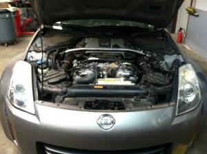 2007 Nissan 350Z low oil pressure low oil pressure sensor MIL CEL service engine soon auto repair car mechanic asian japanese autohaus lexington columbia chapin irmo sc